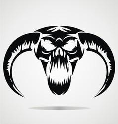 Scary demon skulls vector