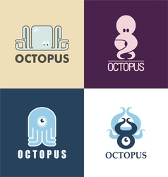 symbols octopus vector image