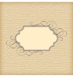 Textured Background and Vintage Frame vector image