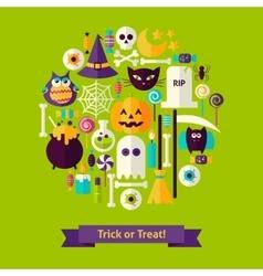 Trick or Treat Halloween Concept vector image vector image