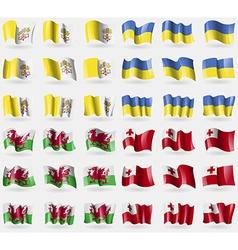 Vatican sityholy see ukraine wales tonga set of 36 vector