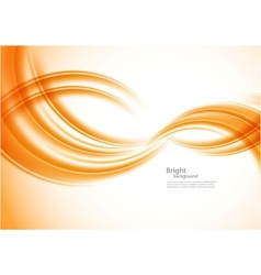 Wavy orange background vector image