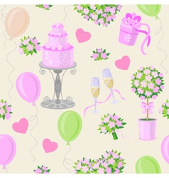 wedding pink pattern vector image