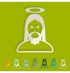 Flat design jesus vector