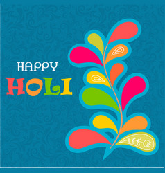 indian color festival holi bacground vector image
