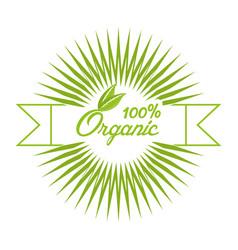 Organic food fresh nutrition emblem vector