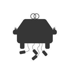 Wedding car silhouette vector