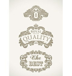 Victorian styled labels vector image
