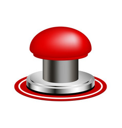 Red alert push button vector