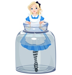 Alice in the jar vector
