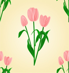 Seamless texture tulips spring background i vector