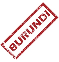 New burundi rubber stamp vector