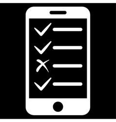 Mobile tasks icon from commerce set vector