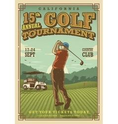Vintage golf poster vector