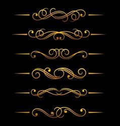 golden vintage divider vector image