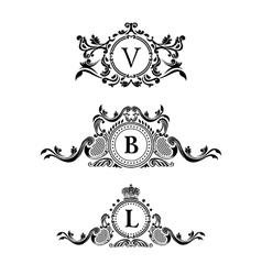 Vintage decorative elements flourishes vector