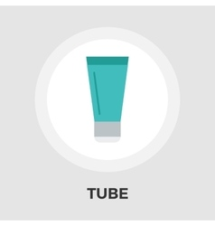 Tube flat icon vector