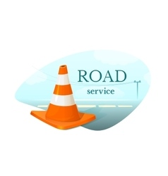 Road service concept design vector