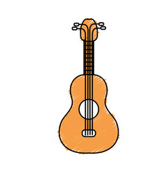 Acoustic guitar instrument to play vector