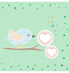 bird greeting card vector image