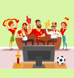 cartoon of a group of friends vector image