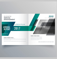 company bifold brochure design template cover vector image