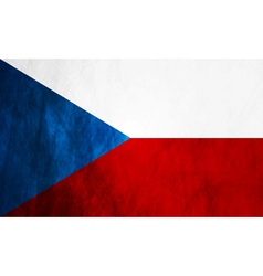 Czech grunge flag vector image vector image