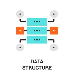 Data structure icon vector