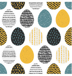 decorative seamless patterns with eggs vector image