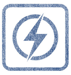 electricity fabric textured icon vector image
