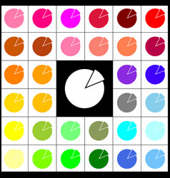 Finance graph sign felt-pen 33 colorful vector