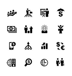 Financial business icons vector