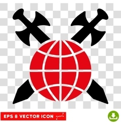Global Protection Swords Eps Icon vector image