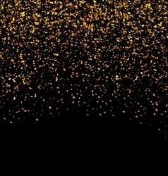 Golden Glitter Texture on Black Background vector image vector image