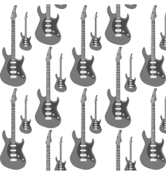 Guitar Seamless Background vector image