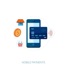 Mobile payment solutions and nfc cards vector