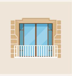 modern balcony classical house facade vector image vector image