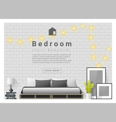 Modern bedroom background Interior design 3 vector image vector image