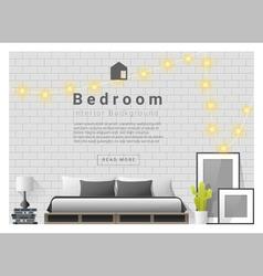 Modern bedroom background Interior design 3 vector image vector image