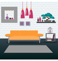 Modern Interior Living Room Design vector image vector image