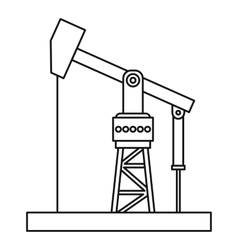 Oil pumpjack icon outline style vector