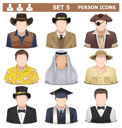 Person icons set 5 vector