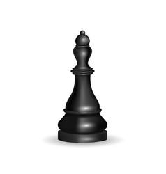 realistic 3d chess black queen vector image vector image