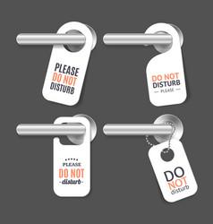 Realistic 3d detailed do not disturb sign and door vector