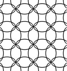 Seamless black and white ellipse pattern design vector