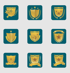 set of different shield emblems vector image vector image