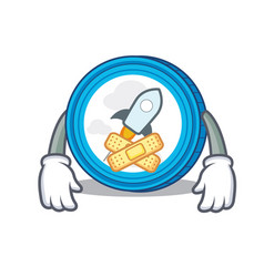 Silent stellar coin character cartoon vector