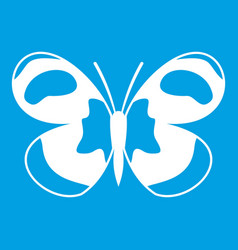 Spotted butterfly icon white vector
