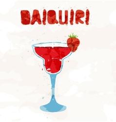 Strawberry daiquiri vector image vector image