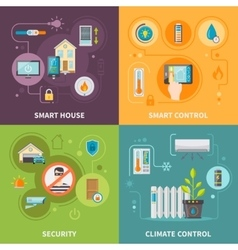 Systems Of Control In Smart House vector image vector image